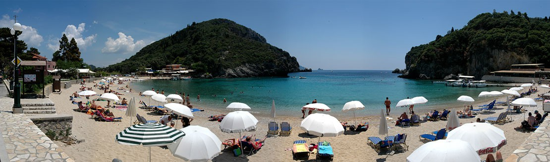 The main beach of Paleokastritsa